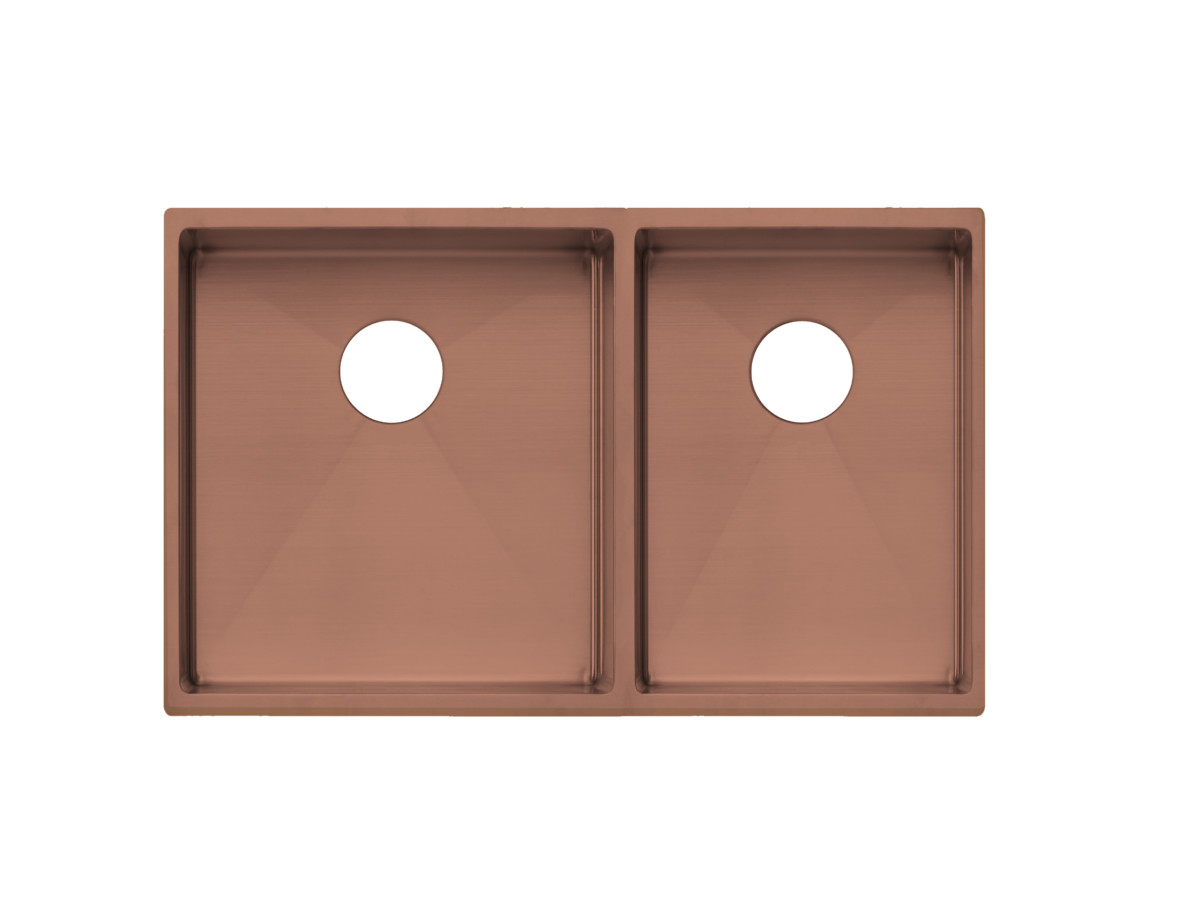brushed copper sink