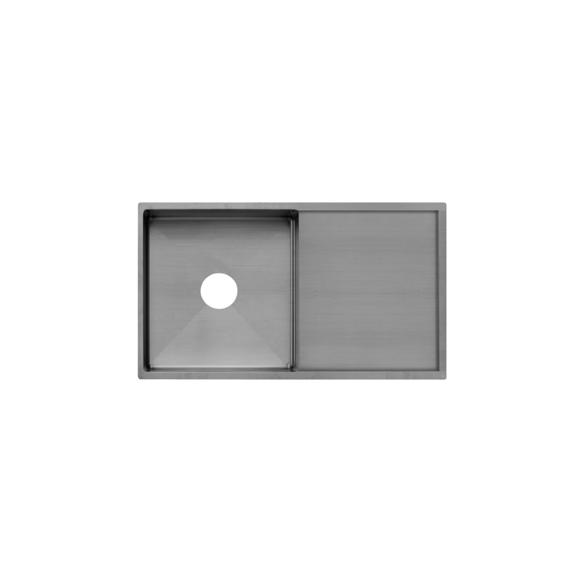 Jai Single Kitchen Sink 880mm - Gunmetal
