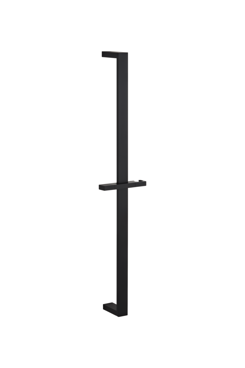 Lior Flat Shower Rail - Matte Black