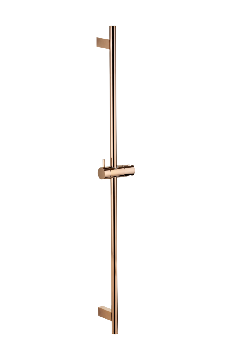 Ryla Round Shower Rail - Deep Rose Gold