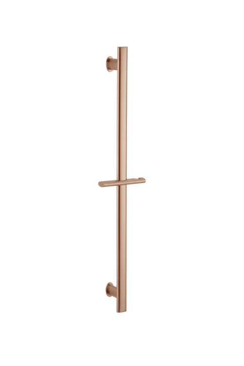 shower rail - brushed copper